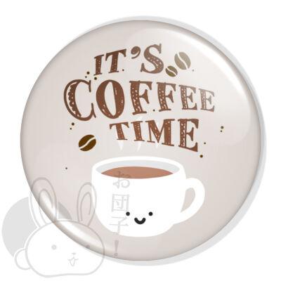 Ideje kávézni XL kitűző