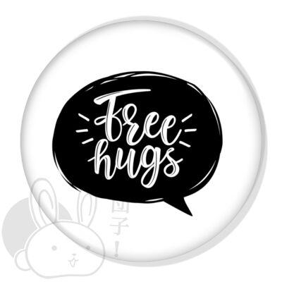 Free Hugs XL kitűző 3