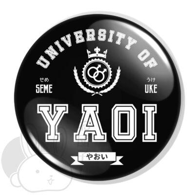 Yaoi University XL kitűző