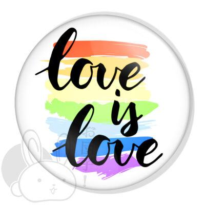 Love is love XL kitűző