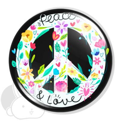 Peace XL kitűző