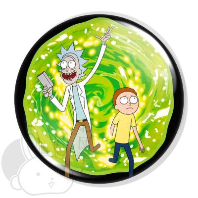 Rick és Morty kitűző XL