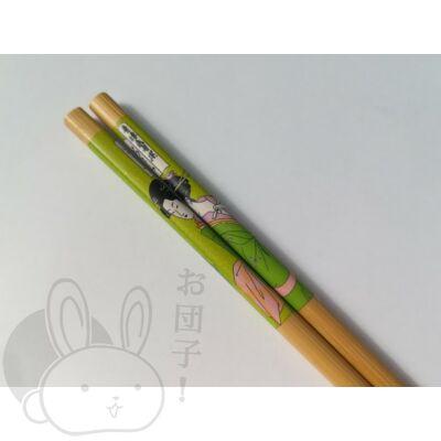 Japán mintás evőpálcika zöld