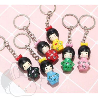 Kokeshi Gésa baba kulcstartók